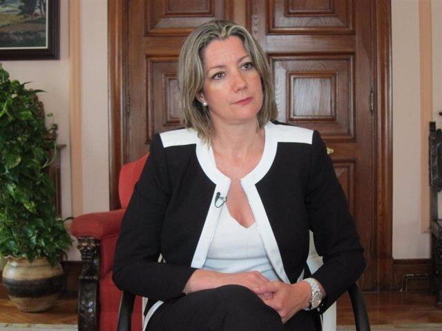 La alcaldesa de Lugo, Lara Méndez, en una entrevista con Europa Press en la Alcaldía de Lugo