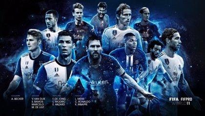 El Real Madrid reina en el once ideal de la FIFA, con Messi, De Jong y Cristiano Ronaldo