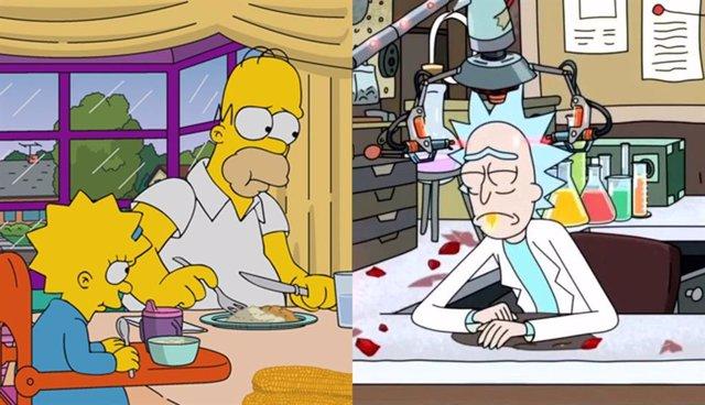 Imagen de Los Simpson y Rick y Morty