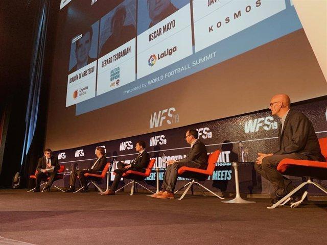 Javier Alonso, Óscar Mayo y Gerard Tsobanian en World Football Summit