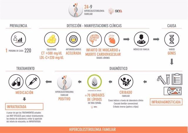 Infografía sobre la hipercolesterolemia familiar