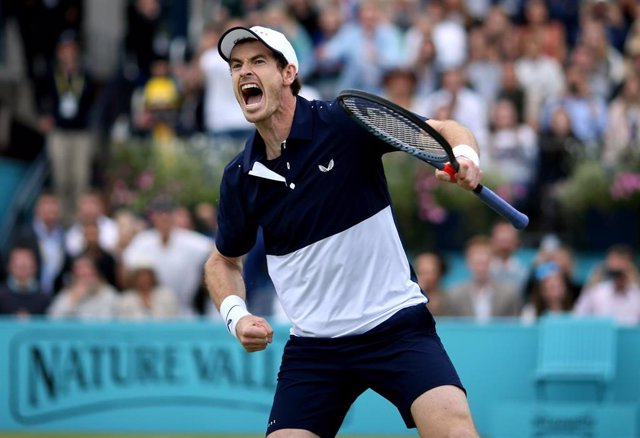Andy Murray celebra un punto