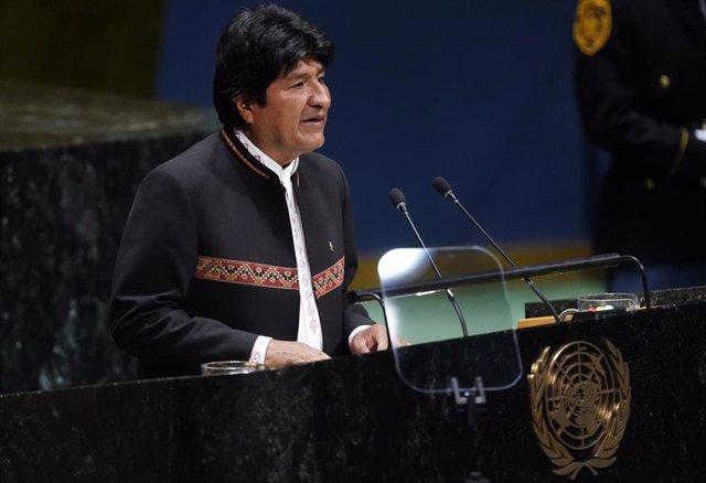 El presidente de Bolivia, Evo Morales, en la ONU