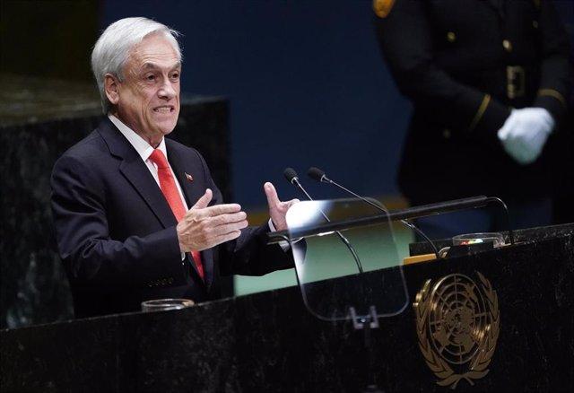 El presidente de Chile, Sebastián Piñera, ante la Asamblea General de Naciones Unidas