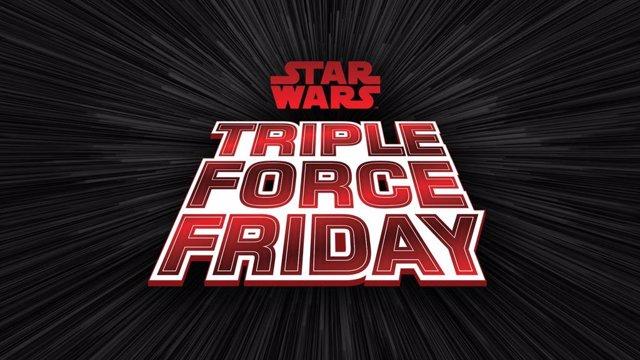 Imagen promocional del evento de Star Wars Triple Force Friday