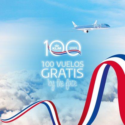 KLM celebra su centenario en España regalando 100 billetes de avión