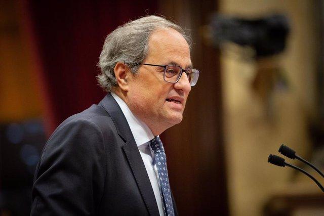 El president de la Generalitat, Quim Torra, en el Debat de Política General