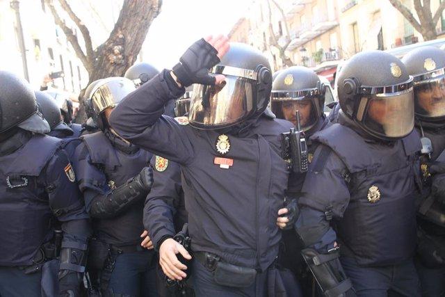 Agents antiavalots de la Policia Nacional (recurs)