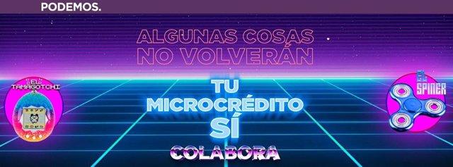 Campaña de microcréditos de Podemos para el 10N