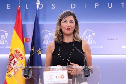 """Yolanda Díaz: """"Me sorprende que se plantee una alianza con En Marea cuando sacó 16.000 votos en las pasadas elecciones"""""""