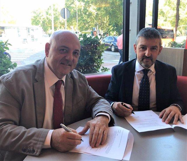 De izquierda a derecha, José Luis Casteig y Andoni Lorenzo