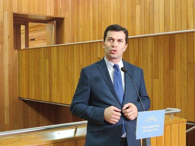 El secretario xeral del PSdeG, Gonzalo Caballero, en el Debate del Estado de la Autonomía
