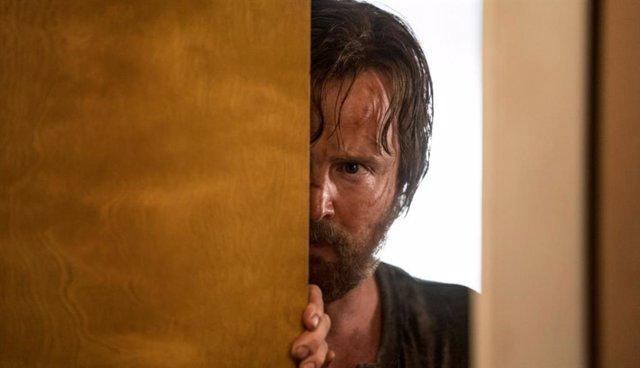 Aaron Paul como Jesse Pinkman en El Camino, la película de Breaking Bad