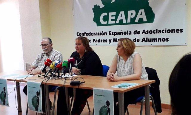 La Confederación Española de Asociaciones de Padres y Madres de Alumnos (CEAPA) hace balance del inicio del curso 2019/2020