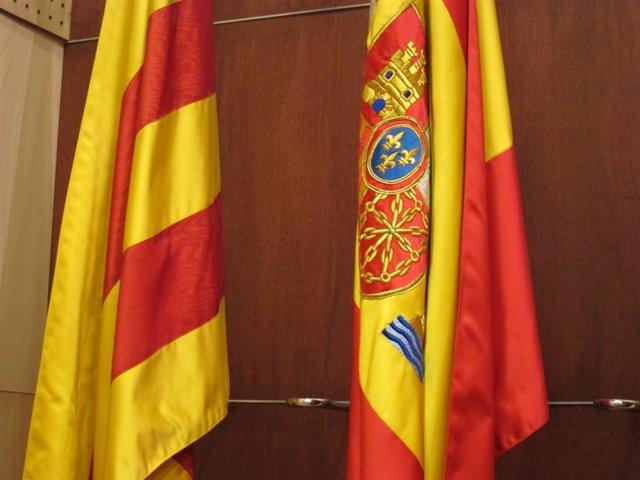 Bandera Catalana i Espanyola.