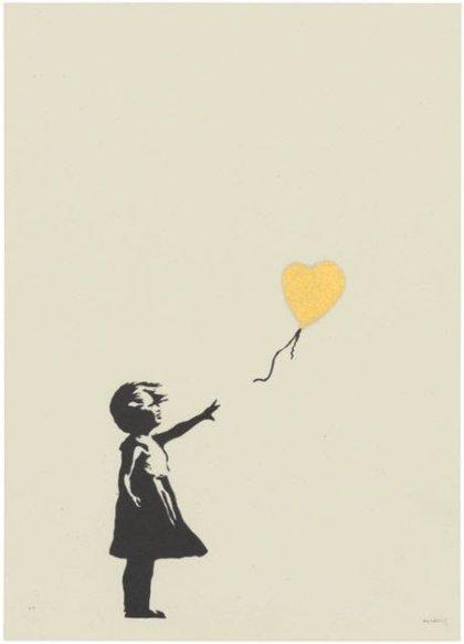 La 'Niña con globo' de Banksy se vende por casi 450.000 euros y alcanza un récord para el artista en grabados