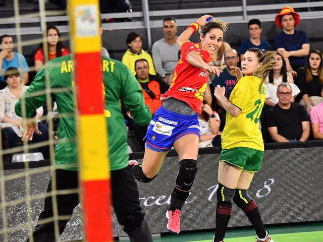 Ana Isabel Martínez, jugadora de la selección española femenina de balonmano.