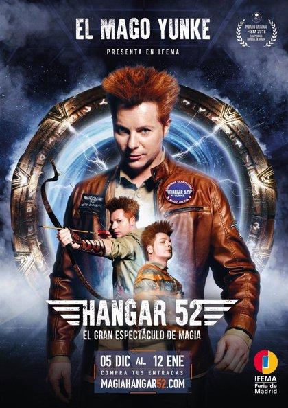 Feria de Madrid y el Mago Yunke presentan 'Hangar 52', espectáculo creado por el actual Campeón Mundial de Magia