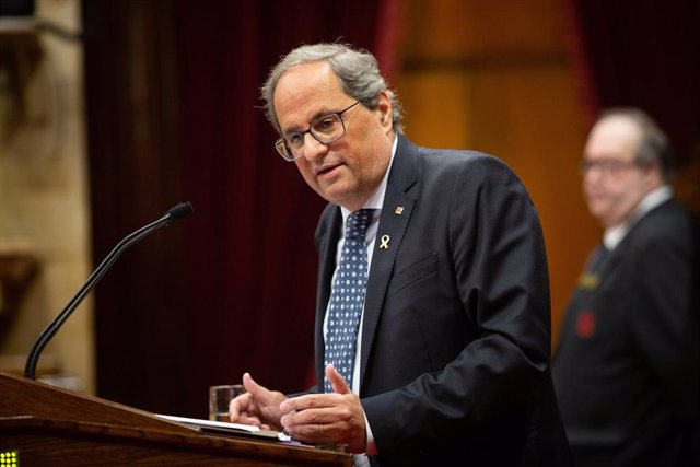 El president Quim Torra intervé en el debat de política general