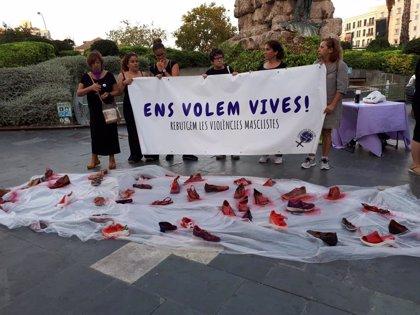 Unas 70 personas se concentran en Palma en contra de las violencias machistas bajo el lema 'Nos queremos vivas'
