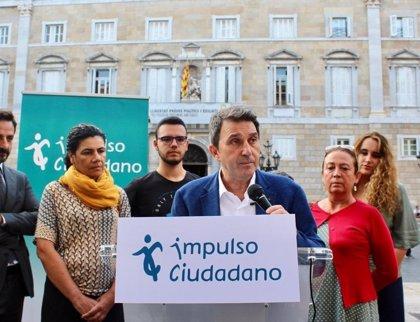 Impulso Ciudadano pedirá que los Mossos retiren la pancarta con el lazo de la Generalitat