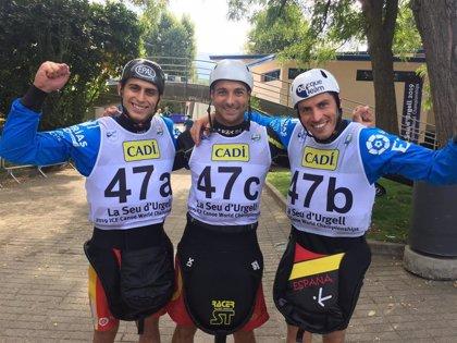 Un oro y dos platas para los piragüistas españoles en el Mundial de eslalon