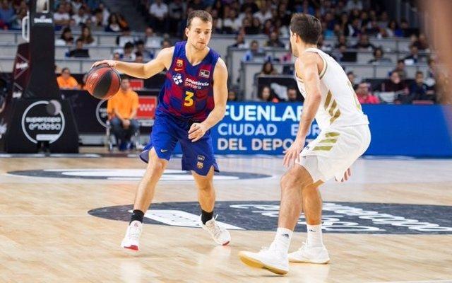 El jugador del Barça Kevin Pangos en la Supercopa Endesa 2019