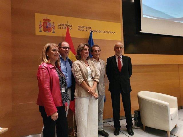 Teresa Ribera durante un acto organizado por el MITECO para debatir sobre le informe del Grupo Intergubernamental de Expertos en Cambio Climático (IPCC) 'Océanos y criosfera en un clima cambiante'.