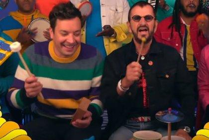 VIDEO: Ringo Starr revoluciona la guardería en el programa de Jimmy Fallon