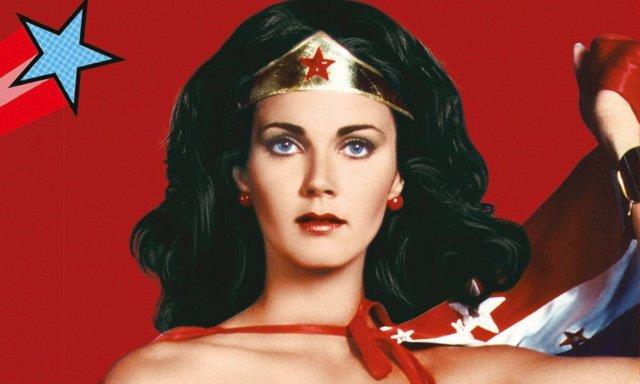 Lynda Carter como Wonder Woman en los 70