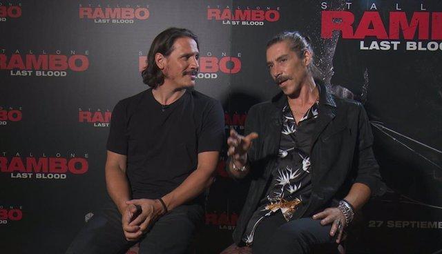 """VÍDEO: Jaenada y Sergio Peris-Mencheta, villanos en Rambo: Last Blood: """"No es un"""