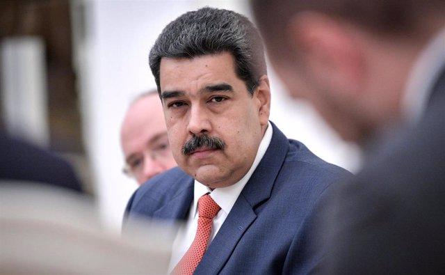 El presidente de Venezuela, Nicolás Maduro, durante su visita a Rusia