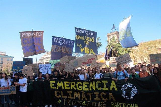 Manifestació contra el canvi climtic a Barcelona