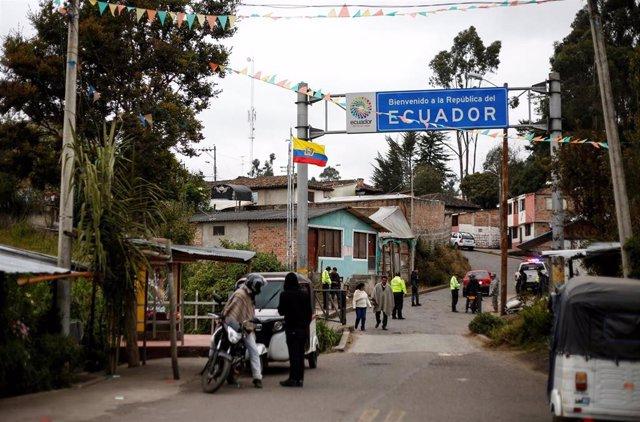 Frontera de Ecuador y Colombia (Imagen de archivo)
