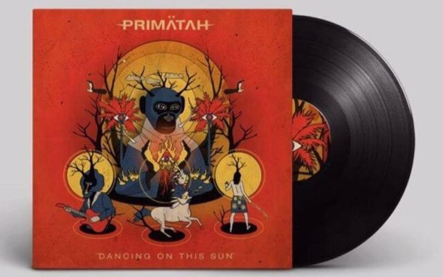 Portada del segundo disco de Primätah, 'Dancing on this sun'.