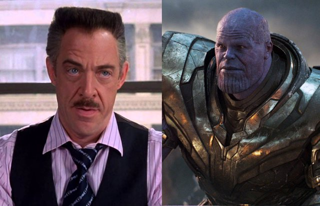 Jonah Jameson Jr. Junto a Thanos