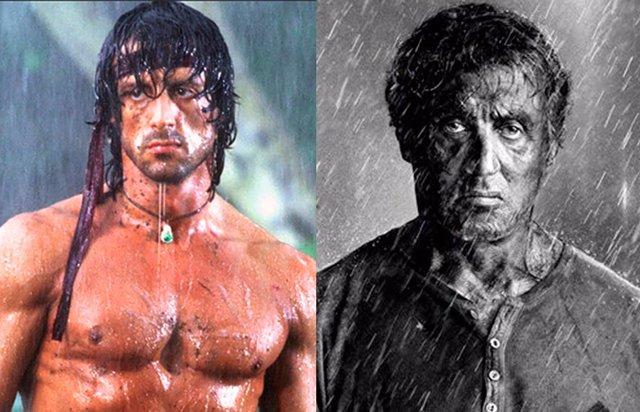 El antes y el ahora de John Rambo