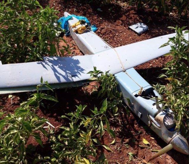 Dron derribado por cazas F-16 turcos en la frontera con Siria