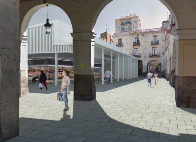 Obres del nou Mercat de Sant Andreu