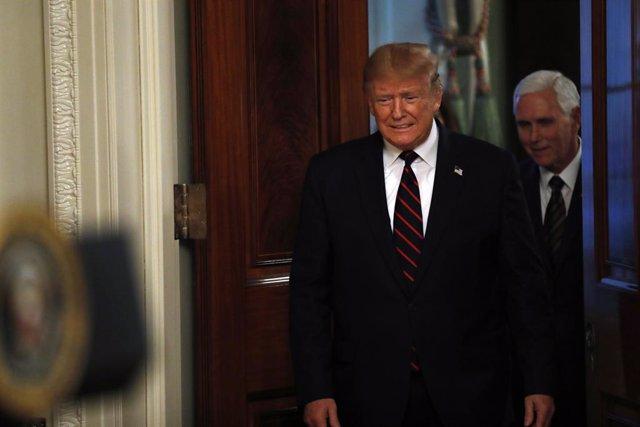 El president dels Estats Units, Donald Trump, amb el vicepresident del país, Mike Pence, a la Casa Blanca
