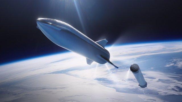 La nau Starship de Space X.