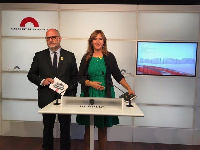 Eduard Pujol i Laura Borràs (JxCat)