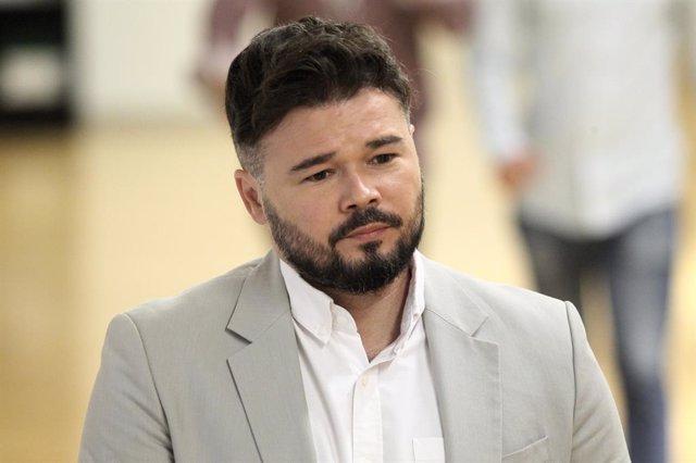 El portaveu parlamentari d'ERC,  Gabriel Rufián, al Congrés