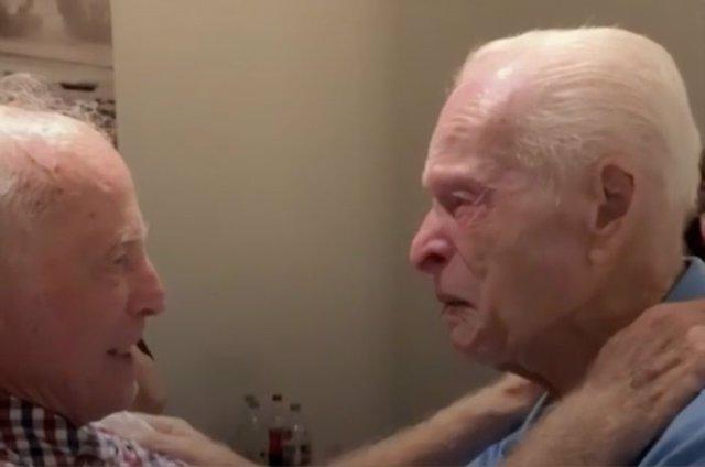 Morris Sana (87 años) y Simon Mairowitz (85 años)