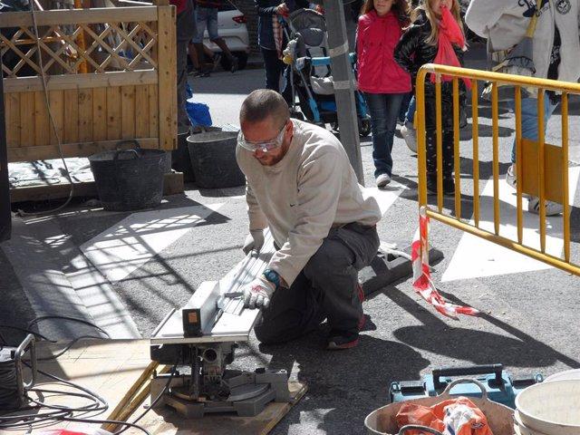 Un trabajador del sector de la construcción en Andorra