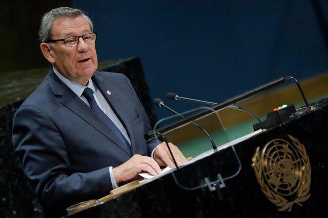 El ministro de Exteriores de Uruguay, Rodolfo Nin Novoa, en la Asamblea General de la ONU