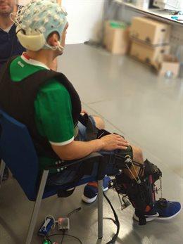 Un exoesqueleto desarrollado por la UMH.