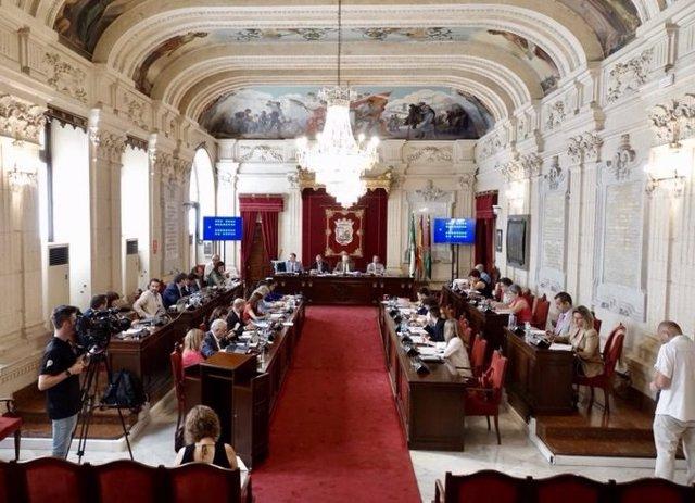 Pleno del Ayuntamiento de Málaga del mes de julio