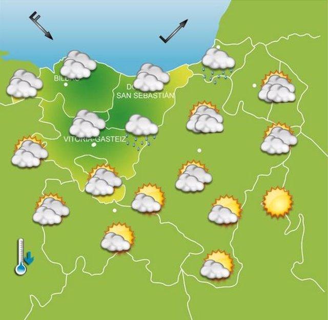 Previsiones meteorológicas para el 1 de octubre.