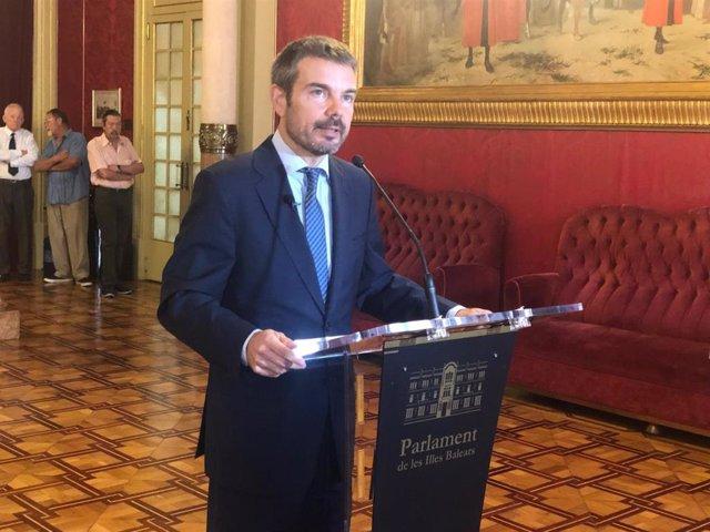 Marc Pérez Ribas, portavoz de Cs en el Parlament balear